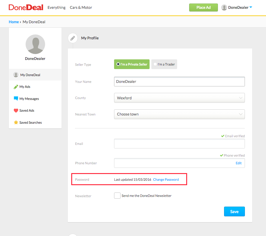 How to reset or retrieve your password – DoneDeal